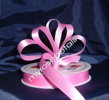 "Ribbon - Satin Ribbon- 5/8"" Single Face 50 Yards (150 FT) - Pink -Sewing-Craft- Wedding Favors"