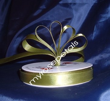 "Ribbon - Satin Ribbon- 5/8"" Single Face 50 Yards (150 FT) - Sage -Sewing-Craft- Wedding Favors"