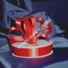 "Ribbon - Satin Ribbon- 7/8"" Single Face 50 Yards (150 FT)- Red -Sewing-Craft -Wedding Favors"