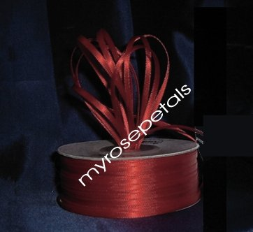 "Satin Ribbon- 1/8"" Double Face 100 Yards (300 FT) - Burgundy -Sewing-Craft - Wedding Favors"