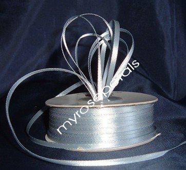 """Satin Ribbon- 1/8"""" Double Face 100 Yards (300 FT) - Dusty Blue -Sewing-Craft-Wedding Favors"""