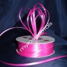 "Satin Ribbon- 1/8"" Double Face 100 Yards (300 FT) - Hot Pink -Sewing-Craft-Wedding Favors"