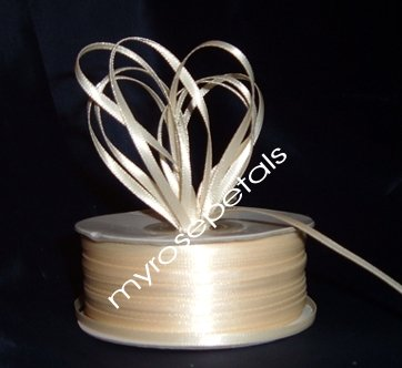 """Satin Ribbon- 1/8"""" Double Face 100 Yards (300 FT) - Ivory -Sewing-Craft-Wedding Favors"""