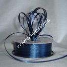 "Satin Ribbon- 1/8"" Double Face 100 Yards (300 FT) - Navy Blue -Sewing-Craft-Wedding Favors"