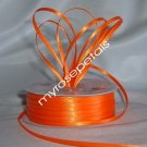 "Satin Ribbon- 1/8"" Double Face 100 Yards (300 FT) - Orange -Sewing-Craft-Wedding Favors"