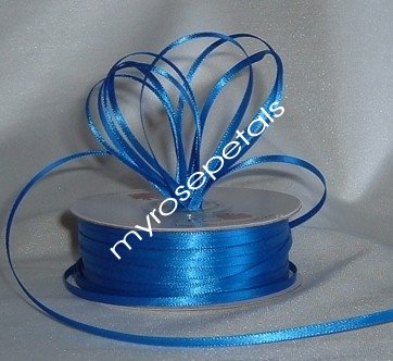 """Satin Ribbon- 1/8"""" Double Face 100 Yards (300 FT) - Ryal Blue -Sewing-Craft-Wedding Favors"""