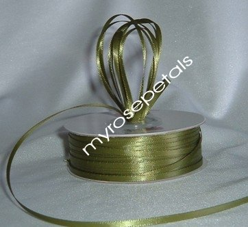 "Satin Ribbon- 1/8"" Double Face 100 Yards (300 FT) - Sage -Sewing-Craft-Wedding Favors"