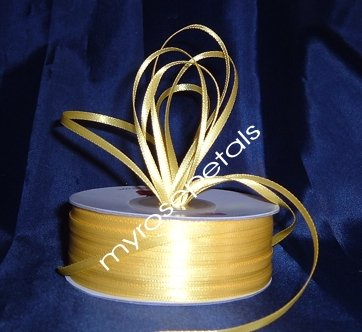 """Satin Ribbon- 1/8"""" Double Face 100 Yards (300 FT) - Yellow -Sewing-Craft-Wedding Favors"""