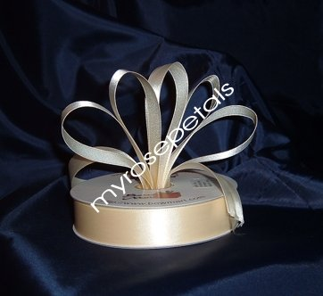 """Satin Ribbon- 7/8"""" Double Face 50 Yards (150 FT) - Ivory - Sewing - Craft - Wedding Favors"""