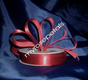 """Satin Ribbon- 7/8"""" Double Face 50 Yards (150 FT) - Burgundy -Sewing-Craft - Wedding Favors"""