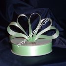 Satin Ribbon- 7/8&quot; Double Face 50 Yards (150 FT) - Pale Green -Sewing-Craft-Wedding Favors