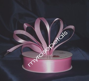 "Satin Ribbon- 7/8"" Double Face 50 Yards (150 FT) - Pink -Sewing-Craft-Wedding Favors"