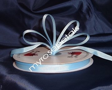 "Grosgrain Ribbon 3/8"" - 50 Yards (150 FT) - Light Blue - Sewing - Craft - Wedding Favors"