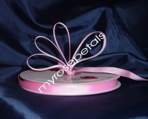 "Grosgrain Ribbon 3/8"" - 50 Yards (150 FT) - Pink - Sewing - Craft - Wedding Favors"
