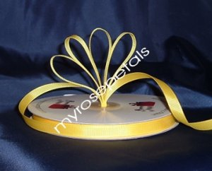 "Grosgrain Ribbon 3/8"" - 50 Yards (150 FT) - Yellow - Sewing - Craft - Wedding Favors"