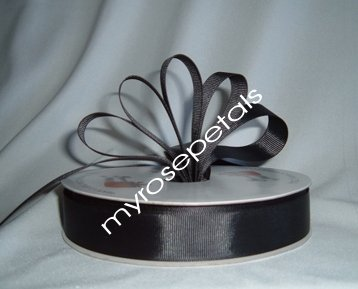 "Grosgrain Ribbon 7/8"" - 50 Yards (150 FT) - Black - Sewing - Craft - Wedding Favors"