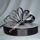 Grosgrain Ribbon 7/8&quot; - 50 Yards (150 FT) - Black - Sewing - Craft - Wedding Favors
