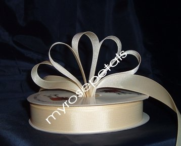 "Grosgrain Ribbon 7/8"" - 50 Yards (150 FT) - Ivory - Sewing - Craft - Wedding Favors"