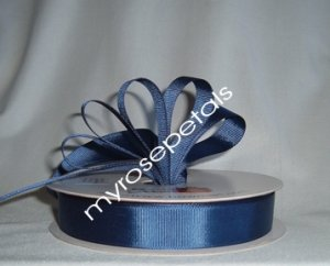 "Grosgrain Ribbon 7/8"" - 50 Yards (150 FT) - Navy Blue-Sewing- Craft - Wedding Favors"