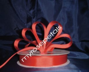 "Grosgrain Ribbon 7/8"" - 50 Yards (150 FT) - Red -Sewing- Craft - Wedding Favors"