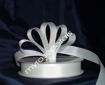 "Grosgrain Ribbon 7/8"" - 50 Yards (150 FT) - White -Sewing- Craft - Wedding Favors"