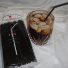 Straws - Flex/Flexible Drinking Straws - Luau - Wedding - Party - Black - 100 Flexible Straws