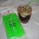 Straws - Flex/Flexible Drinking Straws - Luau - Wedding - Party - Lime Green - 100 Flexible Straws
