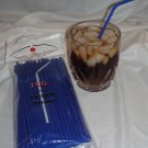 Straws - Flex/Flexible Drinking Straws - Luau - Wedding - Party - Royal Blue - 100 Flexible Straws