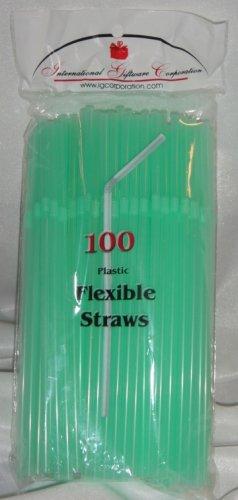 Straws - Flex/Flexible Drinking Straws - Luau - Wedding - Party - Pale Green - 200 Flexible Straws