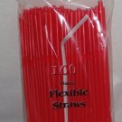 Straws - Flex/Flexible Drinking Straws - Luau - Wedding - Party - Red - 200 Flexible Straws
