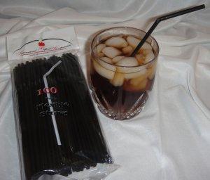 Straws - Flex/Flexible Drinking Straws - Luau - Wedding - Party - Black - 1,000 Flexible Straws