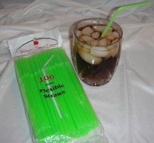 Straws - Flex/Flexible Drinking Straws - Luau - Wedding - Party - Lime Green - 1,000 Flexible Straws
