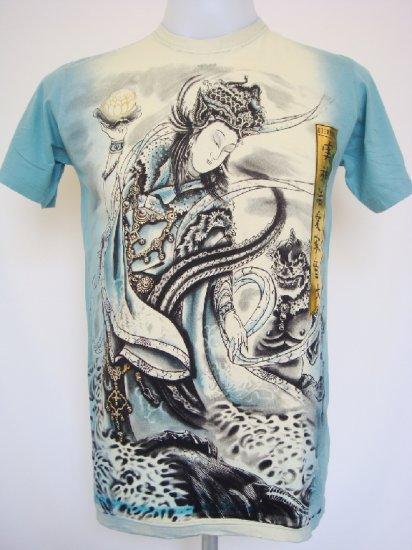 Shiroi Neko Design by Eternity Japanese Dragon Hunter T-Shirt Size M