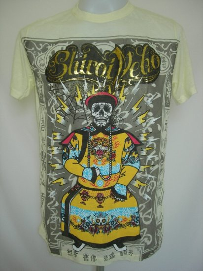 Shiroi Neko Emperor Punk Star Tattoo T-Shirt Light Yellow M