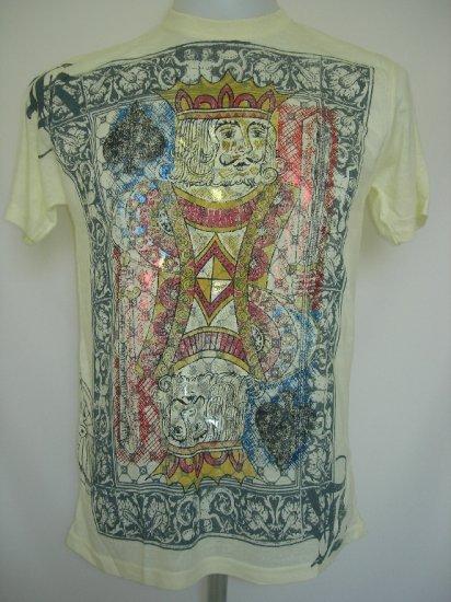 Shiroi Neko King of Spades Tattoo Art T-Shirt Light Yellow M