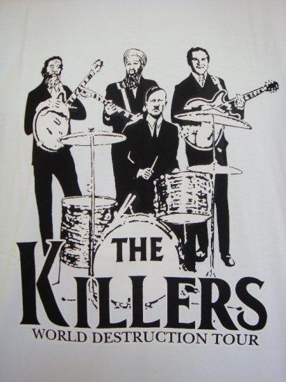 Mens Womens The Killers World Destruction Tour Parody T-Shirt White L