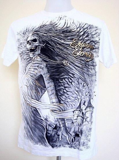 Emperor Eternity Lady Demon Angel Skull T-Shirt White Size L
