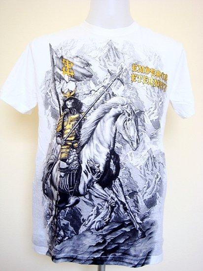 Emperor Eternity Devil Skull Horse Spear Sword T-Shirt White Size M