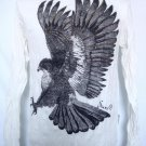 Mens Womens Eagle Urban Emo Soft Top Cotton Long Sleeve Shirt White