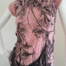 New Womens Girl Emo Punk Urban Cotton Top T-Shirt Pink