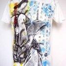Emperor Eternity Japanese Geisha Yacuza Samurai Sword T-Shirt White M