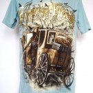 Emperor Eternity Horse Carriage Devil Death Sword T-Shirt Blue L