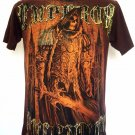Emperor Eternity Skull Tattoo Art T-Shirt BrownRed Size M
