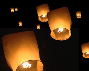 Wholesale Lots 100 Festival Sky Flying Lanterns Wedding Bridal