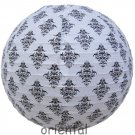 "12""/30cm White&Black Damask Paper Lantern Wedding Party Decorations"