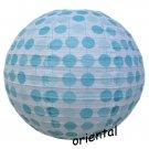 "16""/40cm Blue Polka Dot Paper Lantern Wedding Party Decorations"