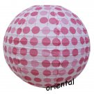 "16""/40cm Pink Polka Dot Paper Lantern Wedding Party Decorations"