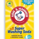 4 BOXES OF ARM & HAMMER WASHING SODA