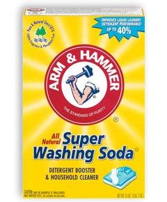 1 POUND BAG OF ARM & HAMMER SUPER WASHING SODA