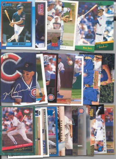 58 Different Mark Grace cards 90's-04's Chicago Cubs, Diamondbacks